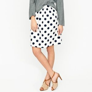 J. Crew Big-Shot Dot Circle Skirt